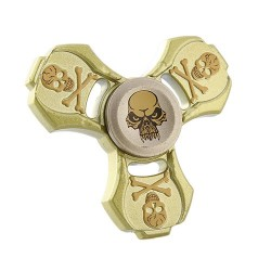 Fidget Spinner 2.5 Minutes Rotation Time Skull
